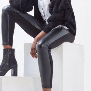 Top shop Genuine Leather Contrast leggings